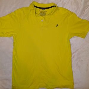 Nautica L Youth - Yellow polo/knit short sleeve